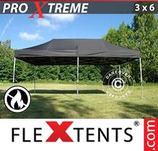 Racing tent Xtreme 3x6 m Black, Flame retardant