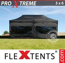 Racing tent Xtreme 3x6 m Black, incl. 6 sidewalls