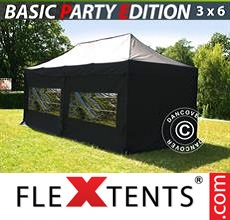 Racing tent Basic 3x6 m Black, incl. 6 sidewalls