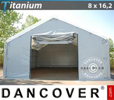 Shelter Titanium 8x16.2x3x5 m, White / Grey