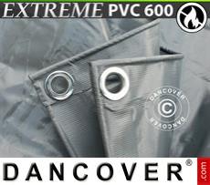 Tarpaulin 4x6 m PVC 600 g/m² Grey, Flame retardant