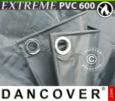 Tarpaulin 8x14 m PVC 600 g/m² Grey, Flame retardant