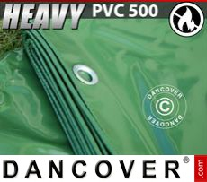 Tarpaulin 8x10 m PVC 500 g/m² Green, Flame retardant