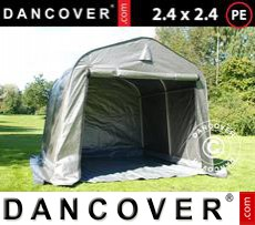 Tents PRO 2.4x2.4x2 m PE, with ground cover, Grey