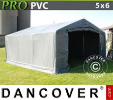 Tents PRO 5x6x2x2.9 m, PVC, Grey
