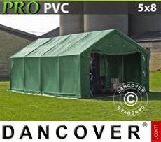 Tents PRO 5x8x2x2.9 m, PVC, Green