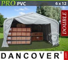 Tents PRO 6x12x3.7 m PVC, Grey