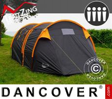 Camping tents,  TentZing® Tunnel, 4 persons, Orange/Dark Grey