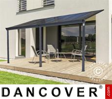 Carport Patio cover Malibu, 3x5.57m, Dark Grey