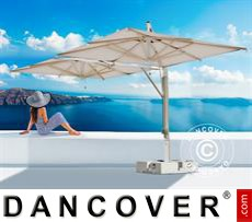 Cantilever parasol Milano Double, 3x6 m, Ecru
