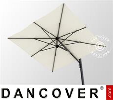Cantilever parasol w/base, Galaxia Astro Carbon, 3x3m, Ecru