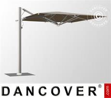 Cantilever parasol w/base, Galaxia Astro Spacegrey, 3x3m, Grey taupe