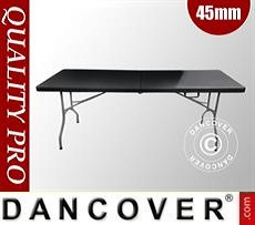Folding Table 182x74x74cm, Black (1 pc.)