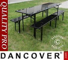 Beer Table Set, 180x60x76cm, Black