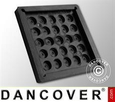 Hull protection pad, rubber, 20x20 cm, black