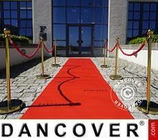 Red carpet runner w/print, 1.2x6m