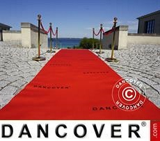 Red carpet runner w/print, 2.4x12m