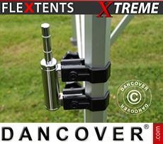 Flag holder w/double clamp for FleXtents Xtreme, 50 mm