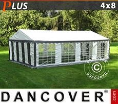 Party Marquee PLUS 4x8 m PE, Grey/White
