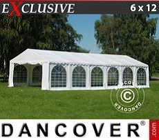 Party Marquee Exclusive 6x12 m PVC, White
