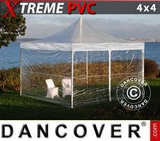 Party Marquee Xtreme 4x4 m Clear, incl. 4 sidewalls