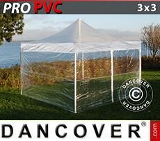 Party Marquee PRO 3x3 m Clear, incl. 4 sidewalls