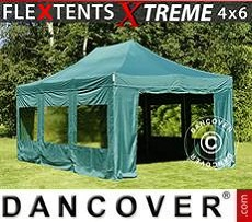 Party Marquee Xtreme 4x6 m Green, incl. 8 sidewalls