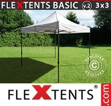 Pop up canopy Basic v.2, 3x3 m White