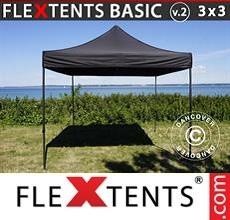 Pop up canopy Basic v.2, 3x3 m Black