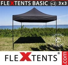 Pop up canopy Basic v.2, 3x3 m Black