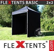 Pop up canopy Basic v.2, 2x2 m Black, incl. 4 sidewalls