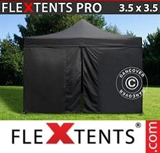 Pop up canopy PRO 3.5x3.5m Black, incl. 4 sidewalls