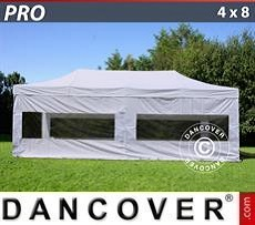 Pop Up Marquee PRO 4x8 m White, incl. 6 sidewalls