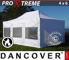 Pop Up Marquee Xtreme 4x6 m White, Flame retardant, incl. 4 sidewalls