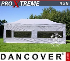 Pop Up Marquee Xtreme 4x8 m White, incl. 6 sidewalls