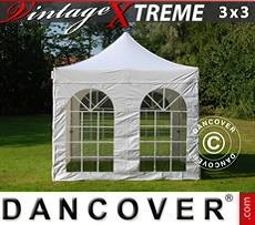 Pop Up Marquee Xtreme Vintage Style 3x3 m White, incl. 4 sidewalls