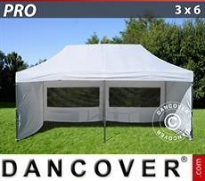 Pop Up Marquee PRO 3x6 m White, incl. 6 sidewalls