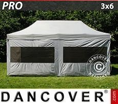 Pop Up Marquee  PRO 3x6 m silver, incl. 6 sidewalls