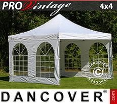 Pop Up Marquee  PRO Vintage Style 4x4 m White, incl. 4 sidewalls