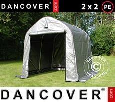 Portable Garage  PRO 2x2x2 m PE, Grey