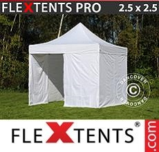Racing tent PRO 2.5x2.5 m White, incl. 4 sidewalls