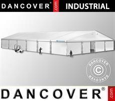 Industrial Storage Hall 15x30x6,53 m w/sliding gate, PVC, White
