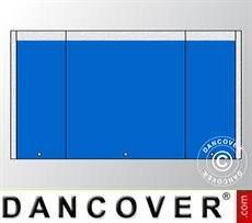 Endwall UNICO 5 m with narrow door, Blue