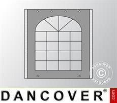 Sidewall w/window for Marquee UNICO, PVC/Polyester, 2m, Dark Grey