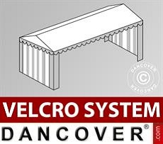 Roof cover with Velcro for Plus marquee 5x10 m, White / Grey