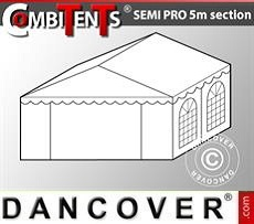4m end section extension for Semi PRO CombiTent, 5x4m, PVC, White