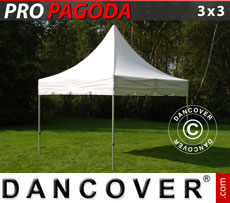 Pop up gazebo FleXtents PRO Peak Pagoda 3x3 m White, incl. 4 sidewalls