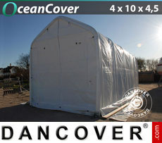 Boat shelter 4x10x3.5x4.5 m