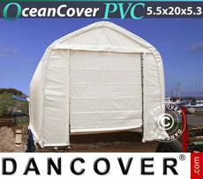 Storage tent 5.5x20x4.1x5.3 m PVC