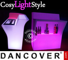 Event furniture: LED Bar, Middle table